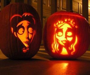 Halloween, pumpkin, and corpse bride image