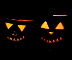 boo, pumpkin, and trick image