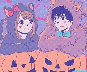 anime, orange, and Halloween image