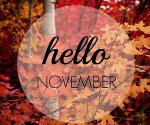 hello, november, and autumn image