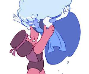 steven universe, sapphire, and ruby image