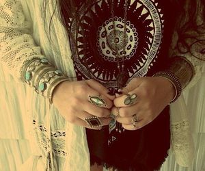 rings, boho, and bracelet image