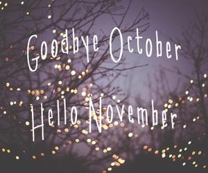 november, october, and hello image