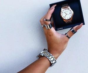 watch, nails, and style image