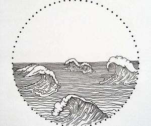 art, ocean, and water image