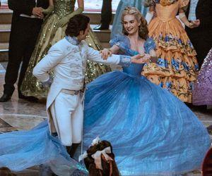 blue dress, cinderella, and disney image