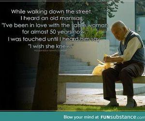 love, sad, and old image