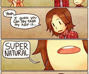 dean winchester, hair, and sam winchester image