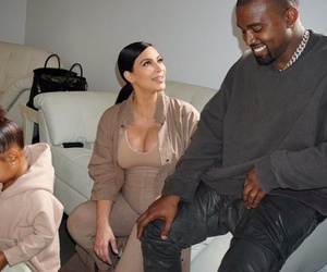 kanye west, kim kardashian, and family image