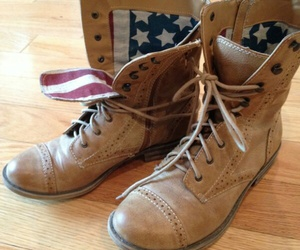 boots, brown, and usa image