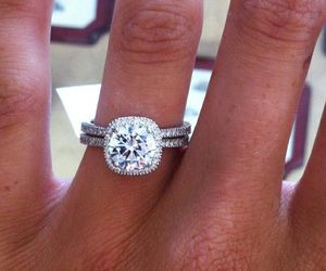 engagement, ring, and wedding ring image