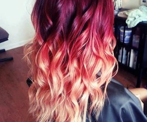 Hair Ombre And Red Image