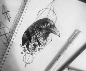 art, raven, and tattoo idea image