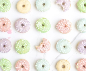 donuts, eat, and pink image