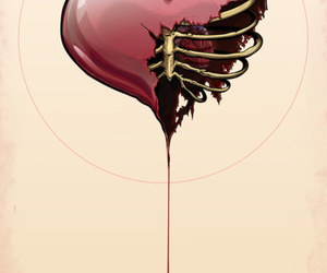heart, blood, and art image
