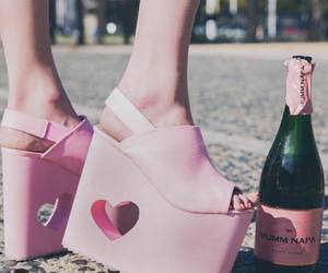 cool, heels, and pink shoes image