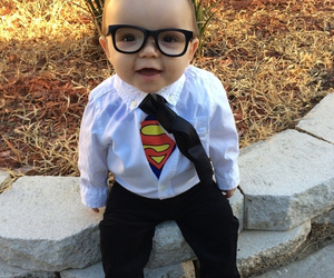 superman, baby, and boy image