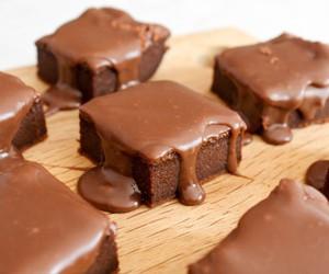 chocolate, dessert, and brownies image
