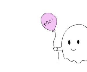 ghost, cute, and transparent image