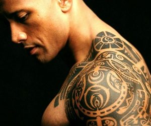 tattoo, Dwayne Johnson, and the rock image