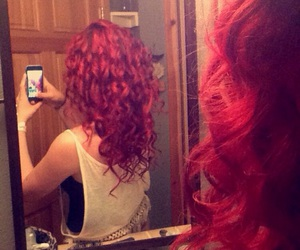 curls, redhair, and naturalhair image