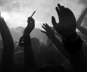 party, smoke, and hands image