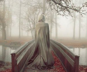 bridge, mist, and fantasy image