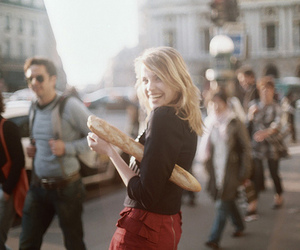 girl, bread, and blonde image