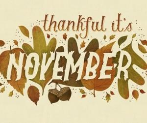 november, autumn, and thankful image
