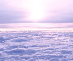 clouds, sky, and purple image