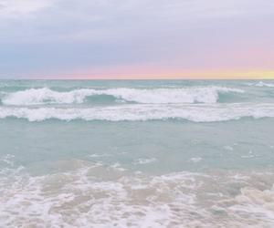 pastel, ocean, and beach image