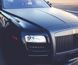 rolls royce, black, and matte image