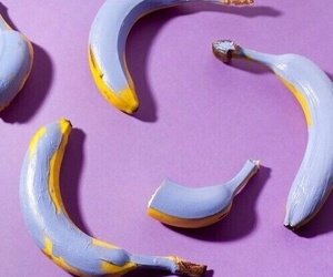 banana, purple, and aesthetic image
