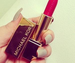 lipstick, Michael Kors, and red image