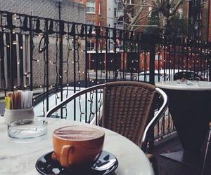 coffee, light, and winter image