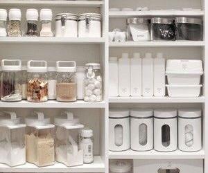 kitchen, white, and organizing image