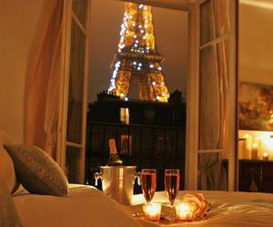 paris, champagne, and bedroom image