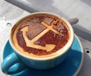coffee, anchor, and blue image