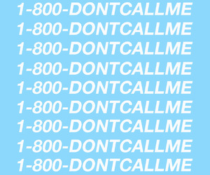 Drake, blue, and hotline bling image