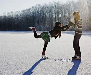 winter, love, and ice image