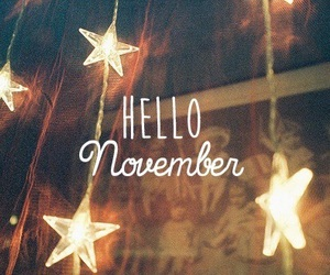 november, hello, and stars image
