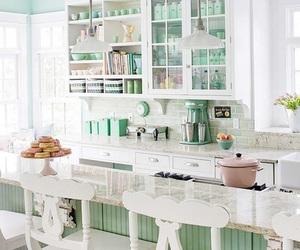 kitchen, white, and decor image