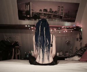 back, bluehair, and dread image