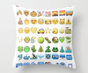 emoticons, fashion, and pillow image
