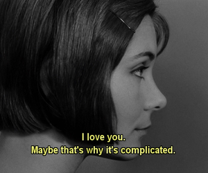 love, complicated, and quote image