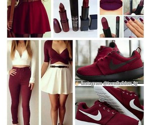 outfit, red, and shoes image