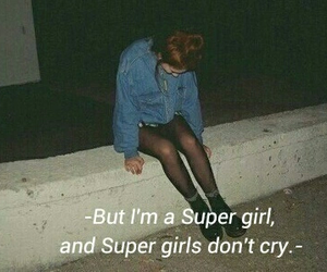 cry, girl, and night image