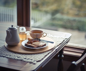 breakfast, tea, and food image