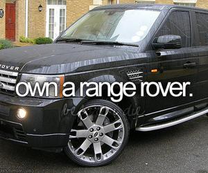 car, range rover, and bucketlist image