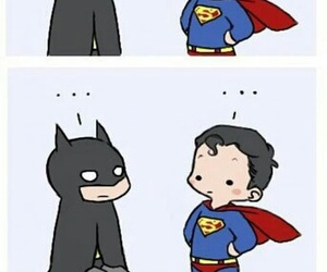funny, superman, and batman image